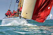 David Murrin's Cetewayo competing in Cowes during the Panerai British Classic Sailing Week regatta.<br /> Picture date: Monday July 10, 2017.<br /> Photograph by Christopher Ison &copy;<br /> 07544044177<br /> chris@christopherison.com<br /> www.christopherison.com