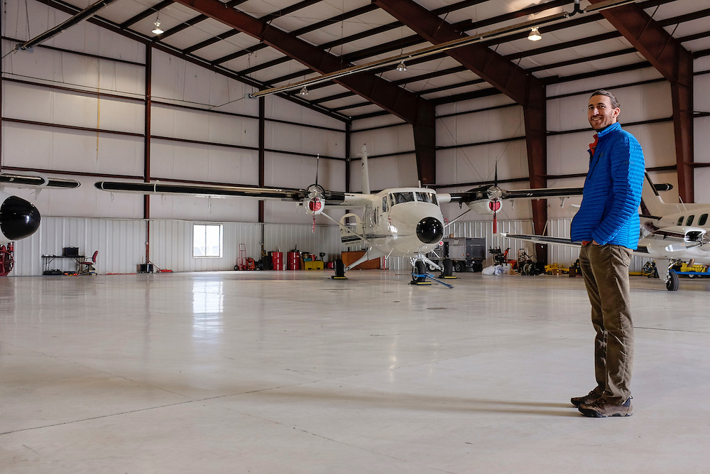 Aircraft used for monitoring regional methane levels are at the ready , La Plata county Airport, Durango, Colorado. Eric Kort, a climate expert with the University of Michigan, explains how the aircraft play a critical role in the regional air quality study of the San Juan Basin.
