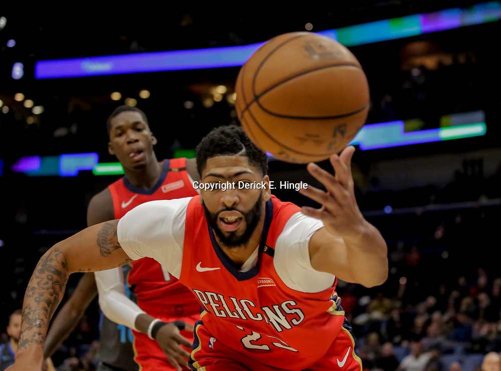 Dec 5, 2018; New Orleans, LA, USA; New Orleans Pelicans forward Anthony Davis (23) chases after a loose ball during the first quarter against the Dallas Mavericks at the Smoothie King Center. Mandatory Credit: Derick E. Hingle-USA TODAY Sports