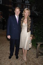 The EARL & COUTESS OF DERBY at the annual Cartier Chelsea Flower Show dinner held at the Chelsea Physic Garden, London on 21st May 2007.<br />