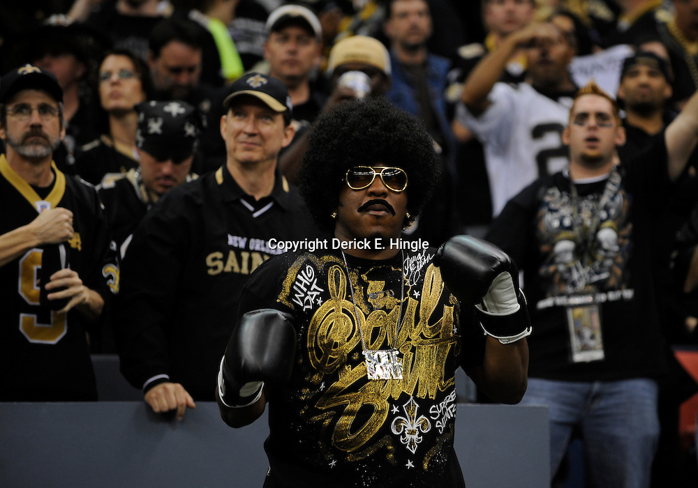 Jan 24, 2010; New Orleans, LA, USA; New Orleans Saints fans in the stands during a 31-28 overtime victory by the New Orleans Saints over the Minnesota Vikings in the 2010 NFC Championship game at the Louisiana Superdome. Mandatory Credit: Derick E. Hingle-US PRESSWIRE