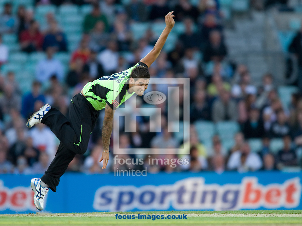 Picture by Daniel Hambury/Focus Images Ltd. 07813 022858.13/6/11.Jade Dernbach of Surrey Lions during the Friends Life T20 match at the Kia Oval, London.