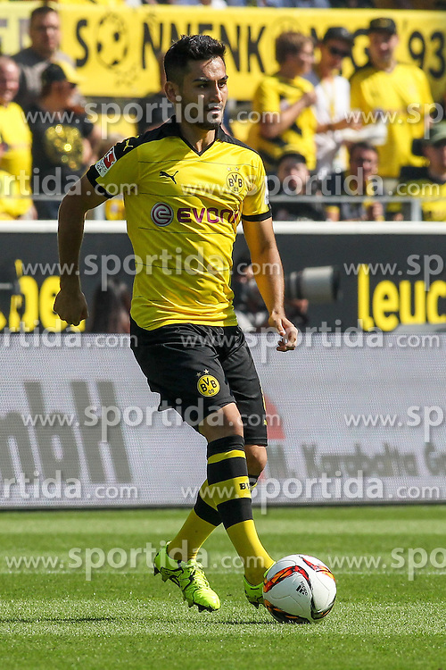 30.08.2015, Signal Iduna Park, Dortmund, GER, 1. FBL, Borussia Dortmund vs Hertha BSC, 3. Runde, im Bild Ilkay Guendogan (Borussia Dortmund #8) // during the German Bundesliga 3rd round match between Borussia Dortmund and Hertha BSC at the Signal Iduna Park in Dortmund, Germany on 2015/08/30. EXPA Pictures &copy; 2015, PhotoCredit: EXPA/ Eibner-Pressefoto/ Sch&uuml;ler<br /> <br /> *****ATTENTION - OUT of GER*****