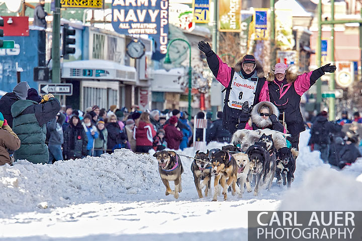 March 7th, 2009:  Anchorage, Alaska: 5 Time Iditarod Champ Rick Swenson of Two Rivers, Alaska at the start of the 2009 race.
