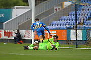GOAL Carlton Morris scores for Shrewsbury 2-1 during the EFL Sky Bet League 1 match between Shrewsbury Town and Rochdale at Greenhous Meadow, Shrewsbury, England on 19 August 2017. Photo by Daniel Youngs.