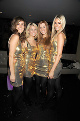 Modern classical quartet ESCALA - TASYA HODGES, IZZY JOHNSTON, VICTORIA LYON and CHANTAL LEVERTON at the Quintessentially Christmas Party held at Kitts, Sloane Square, London on 2nd December 2008.