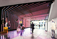 Integrated LED-facade and LED-screen at the entrance of Harvey Nichols Store in Birmingham, UK.<br /><br />Production: www.vml-technologies.com