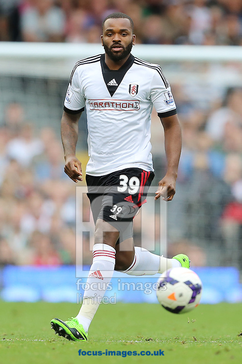 Picture by Richard Calver/Focus Images Ltd +447792 981244<br /> 05/10/2013<br /> Winning goalscorer, Darren Bent of Fulham during the Barclays Premier League match against Stoke City at Craven Cottage, London.