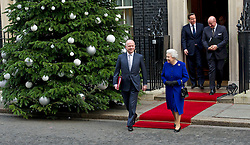 Her Majesty the Queen leaving Downing Street after joining the Cabinet for a presentation this morning accompanied by Foreign Secretary William Hague, London, UK, December 18, 2012. Photo by i-Images.