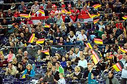 LEIZPIG - WC HOCKEY INDOOR 2015<br /> AUT v GER (Pool A)<br /> Foto: Fans from Germany<br /> FFU PRESS AGENCY COPYRIGHT FRANK UIJLENBROEK