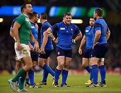 Benjamin Kayser of France looks on - Mandatory byline: Patrick Khachfe/JMP - 07966 386802 - 11/10/2015 - RUGBY UNION - Millennium Stadium - Cardiff, Wales - France v Ireland - Rugby World Cup 2015 Pool D.