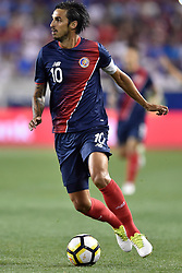 July 7, 2017 - Harrison, New Jersey, U.S - Costa Rica midfielder BRYAN RUIZ (10) in action during CONCACAF Gold Cup 2017 at Red Bull Arena in Harrison New Jersey Costa Rica defeats Honduras 1 to 0. (Credit Image: © Brooks Von Arx via ZUMA Wire)