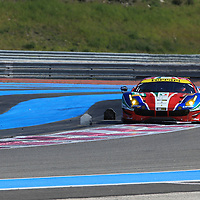 #51, Ferrari 488 GTE, AF Corse, driven by Gianmaria Bruni, James Calado, FIA WEC Prologue Circuit Paul Ricard, 26/03/2016,