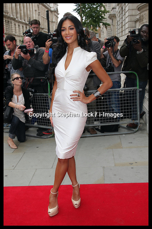 Nicole Scherzinger arriving for  the launch of the new series of X Factor in London, 16th August 2012. Photo by: Stephen Lock / i-Images
