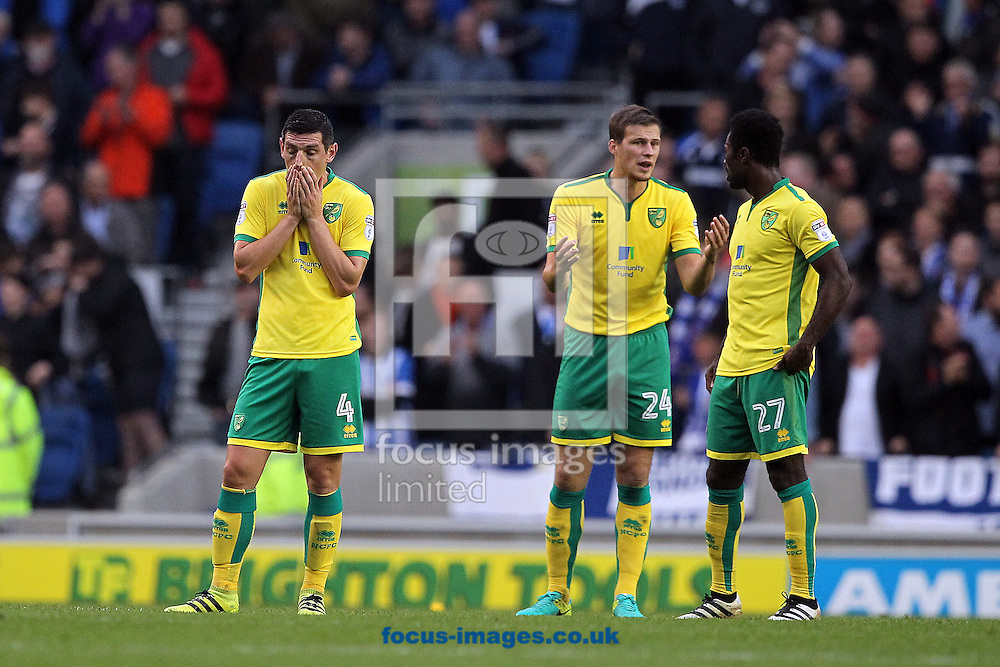 Graham Dorrans of Norwich looks dejected after his side concede their 3rd goal during the Sky Bet Championship match at the American Express Community Stadium, Brighton and Hove<br /> Picture by Paul Chesterton/Focus Images Ltd +44 7904 640267<br /> 29/10/2016