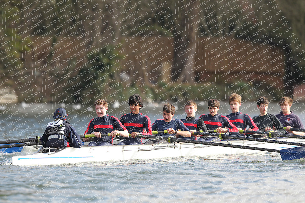 2012.02.25 Reading University Head 2012. The River Thames. Division 1. Kings College School Wimbledon B J15A 8+