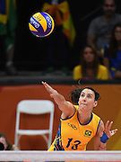 RIO DE JANEIRO, BRAZIL - AUGUST 16:<br /> <br /> Sheilla Castro #13 of China in action during the Women\'s Quarterfinal match between China and Brazil on day 11 of the Rio 2106 Olympic Games at the Maracanazinho on August 16, 2016 in Rio de Janeiro, Brazil.<br /> ©Exclusivepix Media