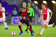 Flamengo midfielder Diego (10) in action during a Florida Cup match against Ajax Amsterdam at Orlando City Stadium on Jan. 10, 2019 in Orlando, Florida. <br /> Flamengo won in penalties 4-3.<br /> <br /> ©2019 Scott A. Miller
