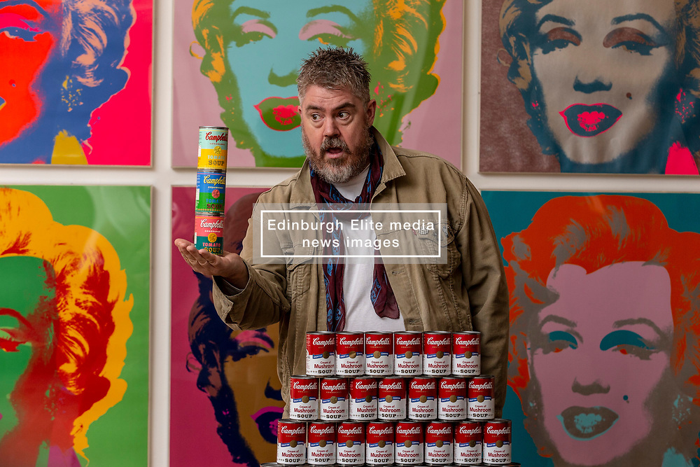Entertainer Phill Jupitus launches the Andy Warhol and Eduardo Paolozzi   I want to be a machine, a major NGS exhibition which explores the mutual fascination for automation, machines and mechanical processes of two of Pop Art's giants, Andy Warhol (1928-1987) and Eduardo Paolozzi (1924-2005).<br /> <br /> Running from 17 November 2018 to 2 June 2019, Andy Warhol and Eduardo Paolozzi   I Want to be a Machine will consist of two parallel displays devoted to each artist, examining the development of their work from the 1940s onwards. Highlights will include striking images like Warhol's famous multi-coloured prints of Marilyn Monroe and Paolozzi's dazzling, kaleidoscopic prints of the '60s and '70s.