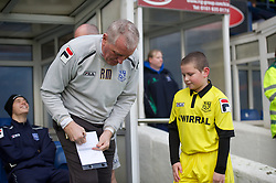 BURY, ENGLAND - New Year's Day Tuesday, January 1, 2013: Tranmere Rovers' manager Ronnie Moore before the Football League One match against Bury at Gigg Lane. (Pic by David Rawcliffe/Propaganda)