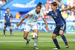 June 10, 2019: Paris, France: Sole Jaimes of Argentina and Kumagai Japan game valid for group D of the first phase of the Women's Soccer World Cup in the Parc Des Princes. (Credit Image: © Vanessa Carvalho/ZUMA Wire)