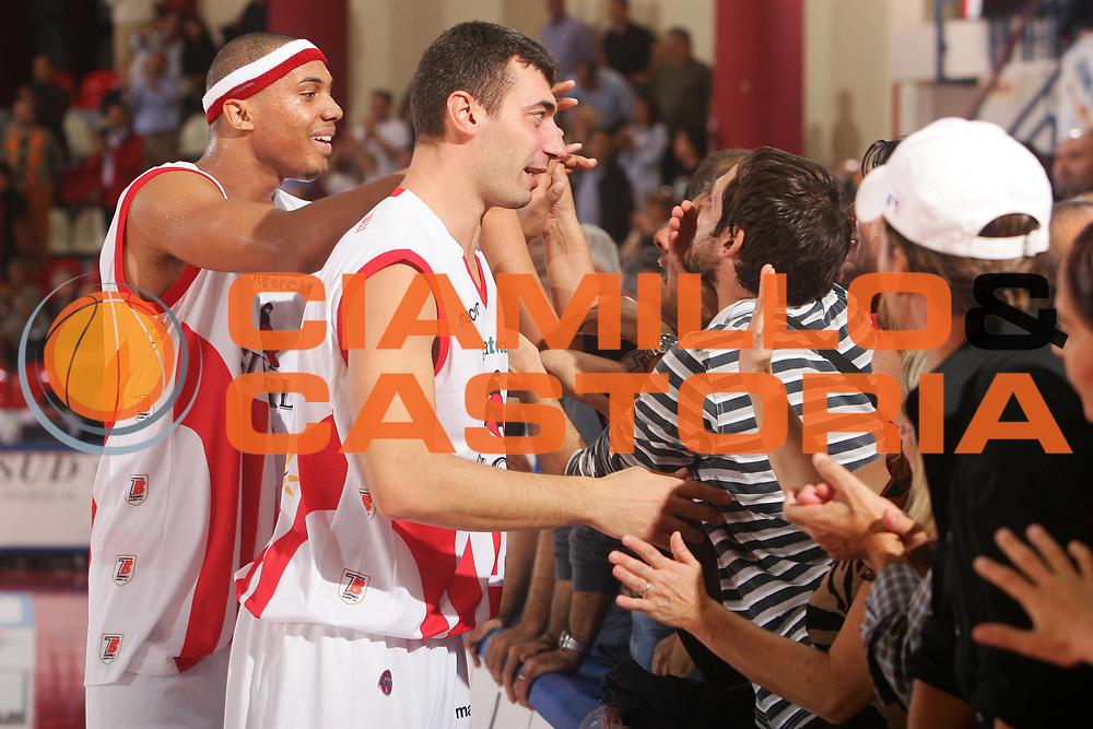 DESCRIZIONE : Teramo Lega A1 2007-08 Siviglia Wear Teramo Lottomatica Virtus Roma <br /> GIOCATORE : Lulli Gianluca <br /> SQUADRA : Siviglia Wear Teramo <br /> EVENTO : Campionato Lega A1 2007-2008 <br /> GARA : Siviglia Wear Teramo Lottomatica Virtus Roma <br /> DATA : 06/10/2007<br /> CATEGORIA : Esultanza <br /> SPORT : Pallacanestro <br /> AUTORE : Agenzia Ciamillo-Castoria/S.Silvestri