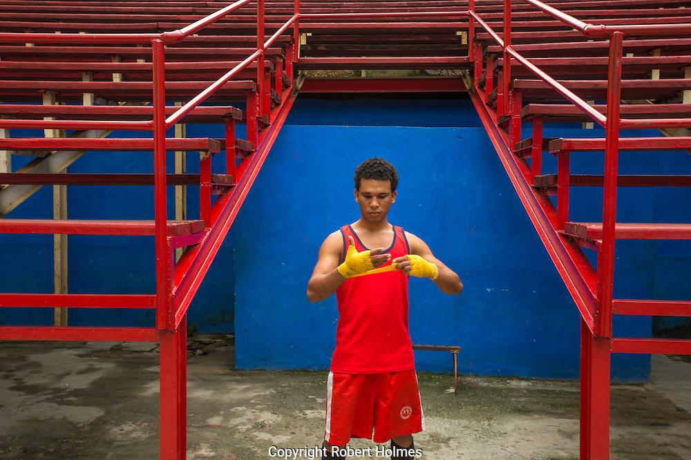 Havana, Cuba, boxing gym