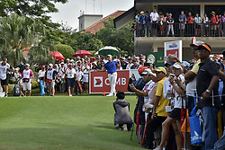 October 15, 2017 - Kuala Lumpur, MALAYSIA - Kang Sung-hoon of South Korea in action during the CIMB Classic 2017 day 4 on October 15, 2017 at TPC Kuala Lumpur, Malaysia. (Credit Image: © Chris Jung via ZUMA Wire)