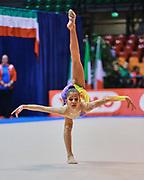 Sofia Rafelli atleta della società Ginnastica Fabriano durante la seconda prova del Campionato Italiano di Ginnastica Ritmica.<br /> La gara si è svolta a Desio il 31 ottobre 2015.