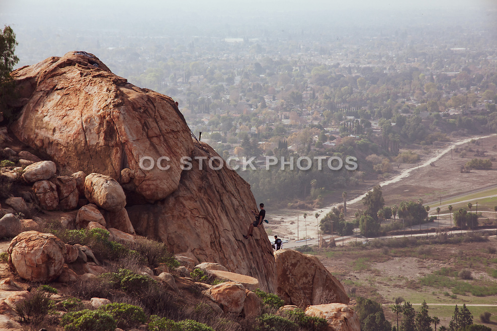 Bouldering on Mt. Rubidoux
