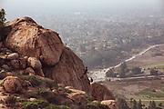 Bouldering on Mt. Rubidoux