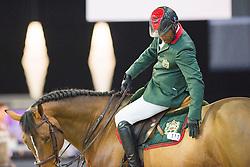 Ouaddar Abdelkebir, (MAR), Quickly de Kreisker<br /> Laiterie de Montaigu Trophy<br /> Longines Masters Paris 2016<br /> © Hippo Foto - Cara Grimshaw