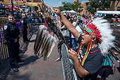 Protest of the Santa Fe Entrada 9-8-17