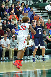 30 December 2017: State Farm Holiday Classic Coed Basketball Tournament at Shirk Center in Bloomington IL<br /> <br /> SFHC - Small School Boys Aurora Christian Eagles v Bloomington Central Catholic Championship Saints