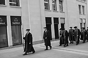 Court, Liverymen and Freemen   process to the Cathedral , <br /> <br /> Cakes and ale <br /> <br /> In accordance with the bequest of Alderman John Norton, Master of the Stationers' Company in 1607, 1611 and 1612, cakes and ale (and other victuals) are  provided at Stationers' Hall after  a private service for the Stationers' Company at St. Paul's . , London. 28 February 2017