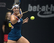 Dominika Cibulkova (SVK) during the semi finals of the WTA Generali Ladies Linz Open at TipsArena, Linz<br /> Picture by EXPA Pictures/Focus Images Ltd 07814482222<br /> 15/10/2016<br /> *** UK &amp; IRELAND ONLY ***<br /> <br /> EXPA-REI-161015-5003.jpg