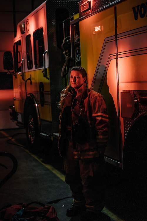 Heidi Wallner, firefighter, National Registry emergency medical technician, and safety supervisior for LSG Sky Chefs, became an volunteer EMT in 2009, and said she was inspired by the first responders from the terrorist attacks of 9-11.