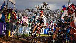 Ian FIELD (58,GBR) 2nd lap at Men UCI CX World Championships - Hoogerheide, The Netherlands - 2nd February 2014 - Photo by Pim Nijland / Peloton Photos