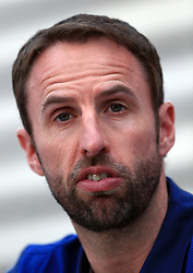 England manager Gareth Southgate during the press conference at Stade Omnisport.