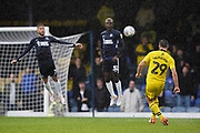 Anthony McMahon of Oxford United takes a free kick during the EFL Sky Bet League 1 match between Southend United and Oxford United at Roots Hall, Southend, England on 6 October 2018.