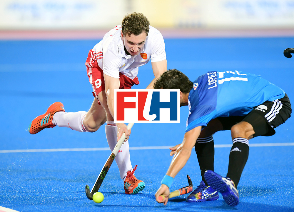 Odisha Men's Hockey World League Final Bhubaneswar 2017<br /> Match id:14<br /> England v Argentina<br /> Foto: Harry Martin (Eng) and Juan Lopez (Arg) <br /> COPYRIGHT WORLDSPORTPICS FRANK UIJLENBROEK