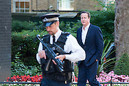 Minsters arrive at Downing Street in London for the weekly Cabinet Meeting. Pictured: DAVID CAMERON PM - Prime Minister, Minister for the Civil Service, First Lord of the Treasury.