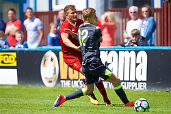 NUNEATON, ENGLAND - Sunday, July 30, 2017: Liverpool's Herbie Kane and PSV Eindhoven's Baggio Wallenburg during a pre-season friendly between Liverpool and PSV Eindhoven at the Liberty Way Stadium. (Pic by Paul Greenwood/Propaganda)