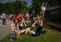 Partial Solar Eclipse viewing party at Gilford Public Library.  ©2017 Karen Bobotas Photographer