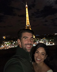 """Michael Phelps releases a photo on Instagram with the following caption: """"Happy Valentine\u2019s Day to my best friend and the love of my life !! I feel so lucky to have you by my side for ever and ever\ud83d\ude18"""". Photo Credit: Instagram *** No USA Distribution *** For Editorial Use Only *** Not to be Published in Books or Photo Books ***  Please note: Fees charged by the agency are for the agency's services only, and do not, nor are they intended to, convey to the user any ownership of Copyright or License in the material. The agency does not claim any ownership including but not limited to Copyright or License in the attached material. By publishing this material you expressly agree to indemnify and to hold the agency and its directors, shareholders and employees harmless from any loss, claims, damages, demands, expenses (including legal fees), or any causes of action or allegation against the agency arising out of or connected in any way with publication of the material."""