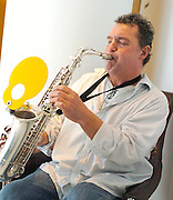 Raphael Ravenscroft <br /> Saxophonist who performed the iconic solo on Gerry Rafferty's 1978 track Baker Street died on 20th October 2014 aged 60 from a suspected heart attack. <br /> <br /> Picture is from an event at the St. Martin's Lane Hotel, London, Great Britain <br /> 21st October 2005. <br /> <br /> Photograph by Elliott Franks