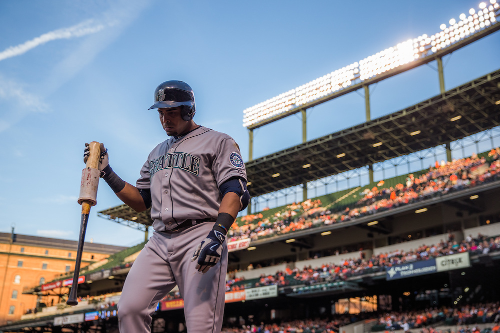 BALTIMORE, MD - MAY 20:  Nelson Cruz #23 of the Seattle Mariners looks on during the game against the Baltimore Orioles at Oriole Park at Camden Yards on May 20, 2015 in Baltimore, Maryland. (Photo by Rob Tringali) *** Local Caption *** Nelson Cruz