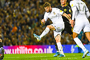 Leeds United midfielder Mateusz Klich (43) clears the ball during the EFL Sky Bet Championship match between Leeds United and Brentford at Elland Road, Leeds, England on 21 August 2019.