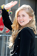 De koninklijke familie is in Zwolle voor de viering van Koningsdag. /// The royal family is in Zwolle for the celebration of King's Day.<br /> <br /> Op de foto / On the photo: Prinses Amalia