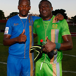Patrick Name (GK) of Royal Eagles FC during the Premier Soccer League (PSL) promotion play-off  match between  Royal Eagles and Tshakuma FC at the Chatsworth Stadium Durban.South Africa ICC,15,05,2019